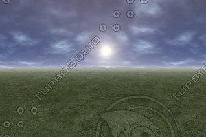 3d sky sphere model