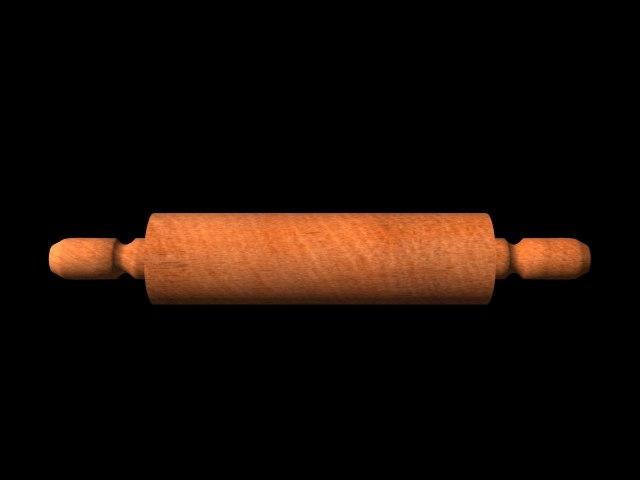 rolling pin 3d model