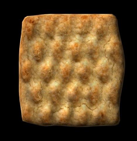 shortbread cookie 3d model