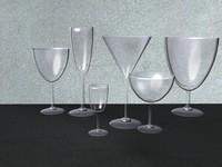 3d stemware wine