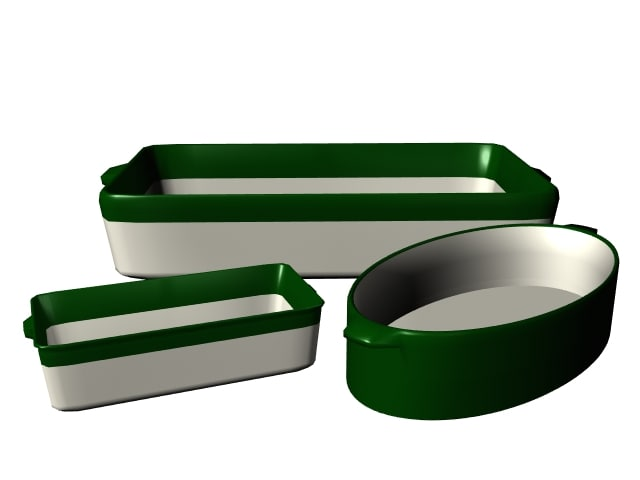 3d model bakeware container