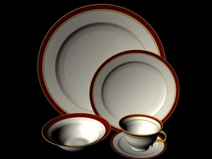 3ds max china dinnerware cup bowl