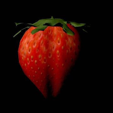 strawberry berry 3d model