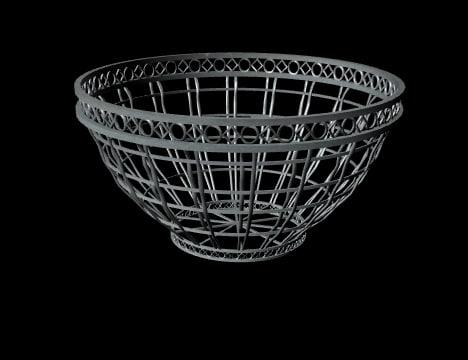 3d metal basket model