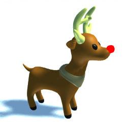 3d rudolph reindeer model