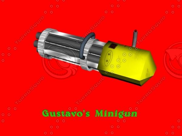 free minigun 3d model