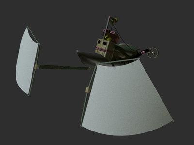 lwo space sailing ship
