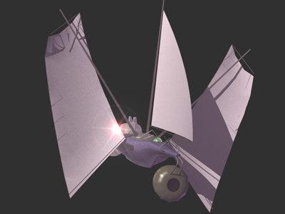 lightwave space sailing ship