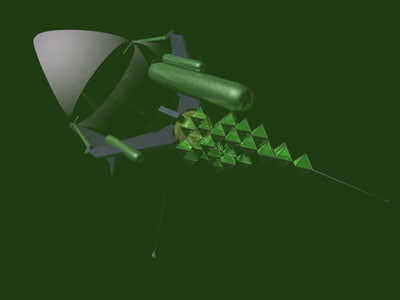 3d model of space sailing ship