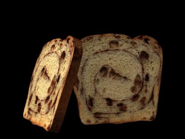 cinnamon bread 3d model