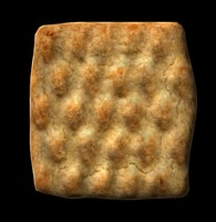 shortbread cookie 3d model