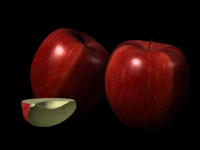 3d apple red delicious model