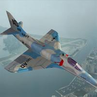 a4 skyhawk 3d model