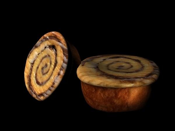 cinnamon roll 3d lwo
