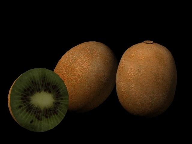3d kiwi fruit