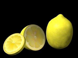 lemon fruit 3d model