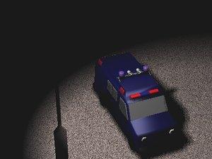 police van 3d 3ds