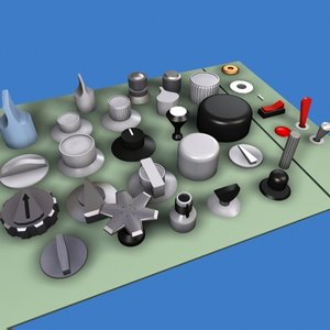 knobs 3d model