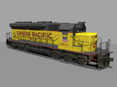 sd locomotive 3d ma