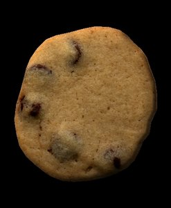 3d chocolate chip cookie model
