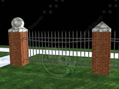 3d model viz fence