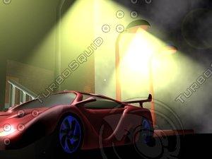mclaren f1 car sports 3d model