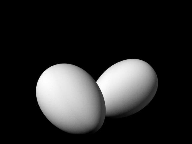 egg white 3d obj