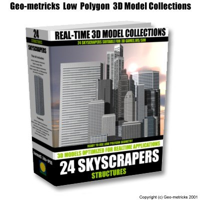 polygons skyscraper 3d model