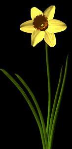 plant flower 3d 3ds