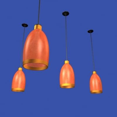 3d cafe ceiling lamp