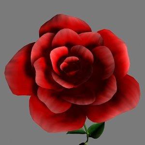 free rose 3d model