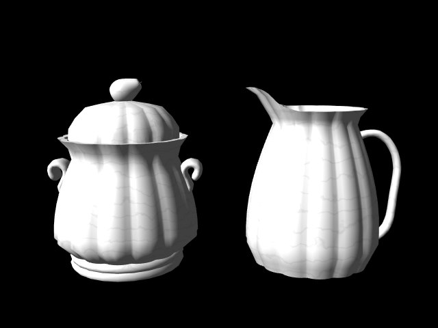 sugar bowl creamer 3d model