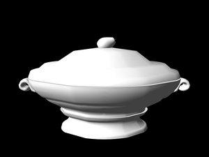 soup tureen 3d model