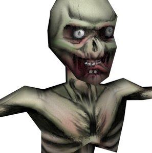 zombie skeleton undead 3d model