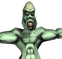 free orc monster 3d model