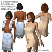 towels dress 3d model