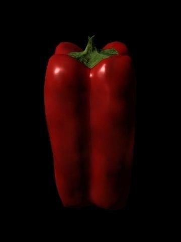 3d model red bell pepper