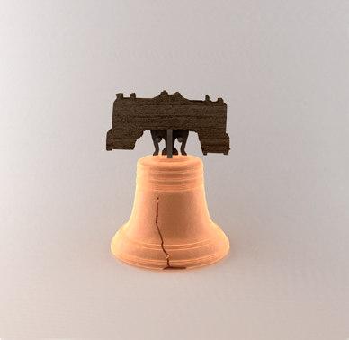 3d liberty bell model