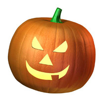 3d model of seasonal pumpkin