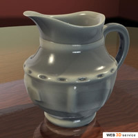 3d jug photorealistic shaders model