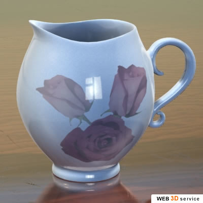 3d model jug photorealistic shaders