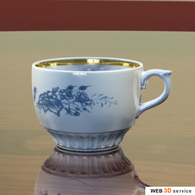 3d model cup photorealistic shaders