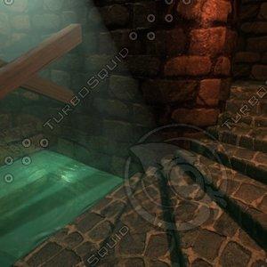 scene cistern 3d model