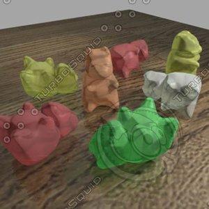 gummi bears 3d model