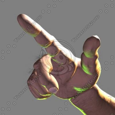 hand fingers 3d model