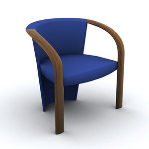 stylish armchair 3d max