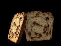 3d model cinnamon bread