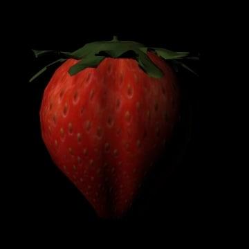 strawberry berry obj