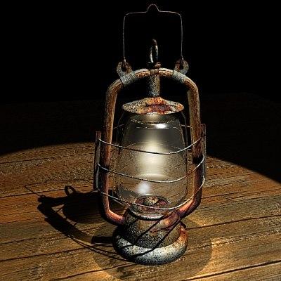 3ds max lantern parafin gas