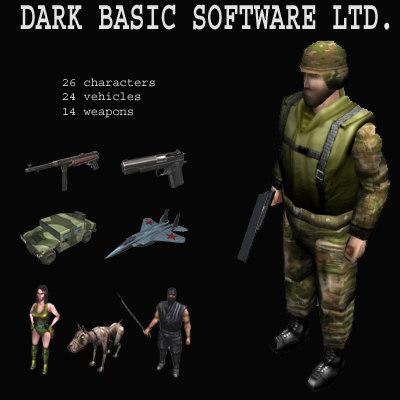 3dsmax dark basic pak vehicles
